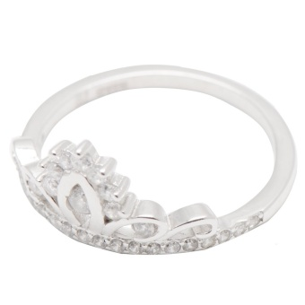 Silverworks R6203 Crown Design Ring (Silver) - 2