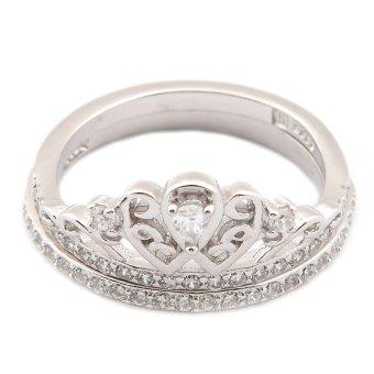 Silverworks R6208 Crown Design Ring (Silver)