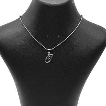 Silverworks X1765 Balls Chain with Letter G Pendant Necklace