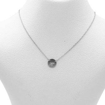 Silverworks X1792 Letter H Necklace (Silver)