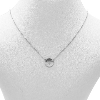 Silverworks X1798 Letter N Necklace (Silver)