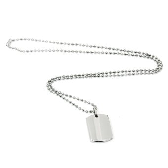Silverworks X1862 Dogtag Necklace with Free Engraving Voucher
