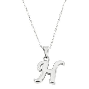 Silverworks X1959 Letter H Necklace