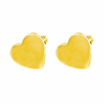Silverworks X3324 Heart Stud Earrings