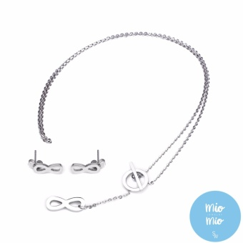 Silverworks X3544 Infinity Necklace and Earrings
