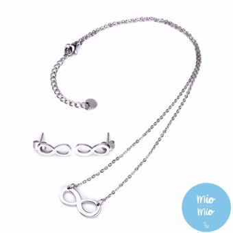 Silverworks X3553 Infinity Necklace and Earrings Set Price Philippines