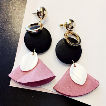 Simple exaggerated earrings