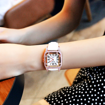 Simple female elegant square quartz watch