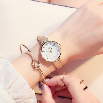 Simple female small dial quartz watch