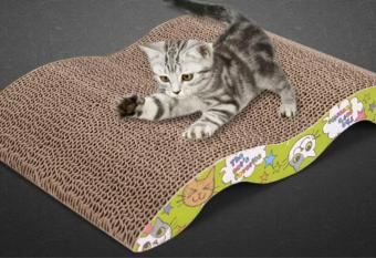 Size large Cat Pet New Scratching Corrugated Board Scratcher Post Pole Bed Pad Matt Toy - intl