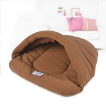 (SIZE:L)New Pet Cat Bed Small Dog Puppy Kennel Sofa Polar FleeceMaterial Bed Pet Mat Cat House Cat Sleeping Bag Warm Nest HighQuality - intl