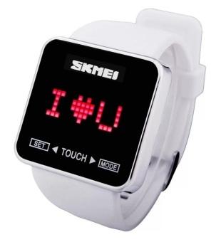 SKMEI 0950 Touch Screen LED Digital Wrist Watch (White)