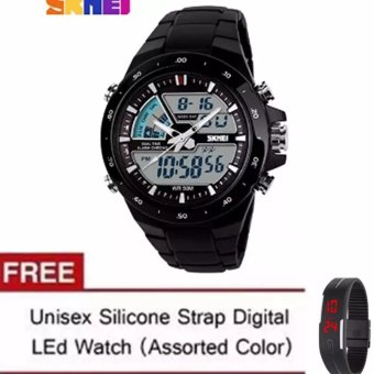 Skmei 1016 Casual Men Digital Quartz Sports Watch (Black) with LEDWatch (Color May Vary)