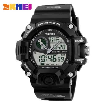 Skmei 1029 Sport Watches Men Waterproof 50M Men Wristwatch (Black) Price Philippines