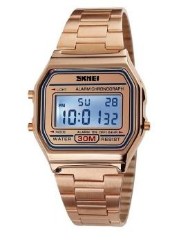 Skmei 1123 Vintage Rose Gold Digital Fashion Unisex Watch
