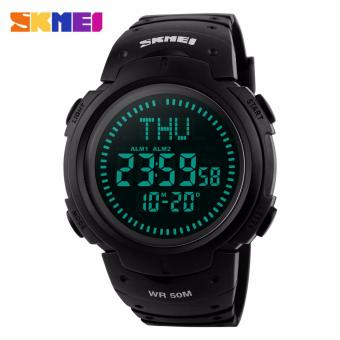 SKMEI 1231 Outdoor Sports Compass Watches Hiking Men Watch Digital LED Electronic Watch Man Sports Watches Chronograph Men Clock