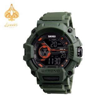 SKMEI 1233 Men Sports Digital Quartz Watch Water Resistant (Army Green)