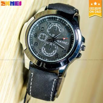 SKMEI 3999 Men's Fashion Leather Strap Sports Quartz Wrist Watch