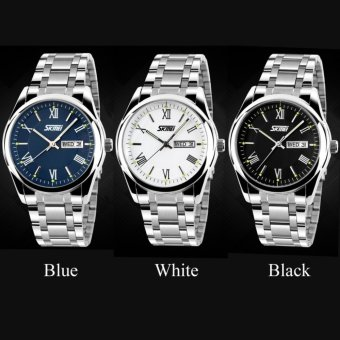 SKMEI 9056 Mens Automatic Watch Mens Fashion Steel band clock top quality famous china brand waterproof luxury military vintage - intl - 3