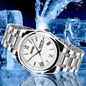 SKMEI 9056 Mens Automatic Watch Mens Fashion Steel band clock top quality famous china brand waterproof luxury military vintage - intl - 2