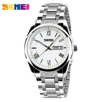 SKMEI 9056 Mens Automatic Watch Mens Fashion Steel band clock top quality famous china brand waterproof luxury military vintage - intl