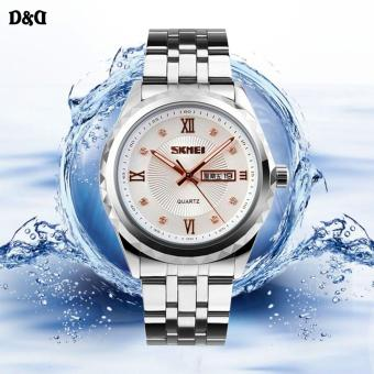 SKMEI 9100 Elegant Diamond Men Stainless Steel Band Quartz Watch Price Philippines