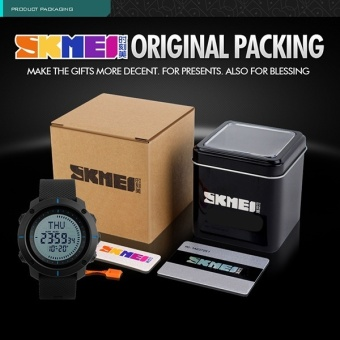 SKMEI Brand Watch Men Digital Big Dial Compass World Time Clocks 3 Alarm Waterproof Outdoor Sports Watches 1216 Relogio Masculino - intl