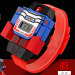 Skmei cartoon young student's toys transformers leather belt Watch Children's Watch