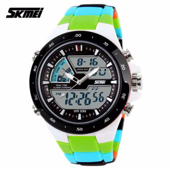 Skmei Colorful Strap Unisex Watch AD1016 (Green)