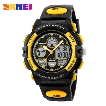 SKMEI Kids Sports Military Waterproof Wristwatches Dual Display LED Digital Quartz Watches 1163 - Blue - intl - 3