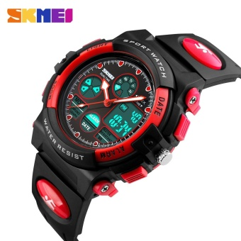SKMEI Kids Sports Military Waterproof Wristwatches Dual Display LED Digital Quartz Watches 1163 - Blue - intl - 5
