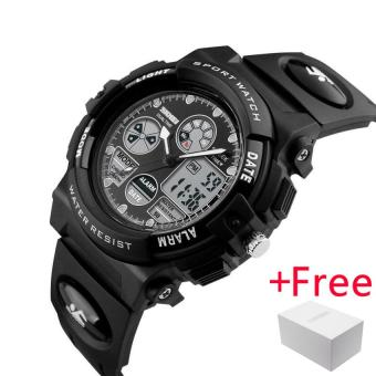 SKMEI Kids Sports Watches Children For Girls Boys Waterproof Military Dual Display Wristwatches LED Waterproof Watch 1163