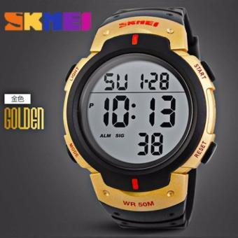 SKMEI Outdoor Pioneer Sports Digital Black Strap Watch (Black andGold)