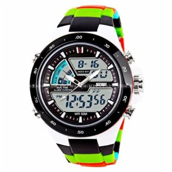 SKMEI S-Shock Fashion Sports Multicolor Pattern Silicone Strap Watch Price Philippines