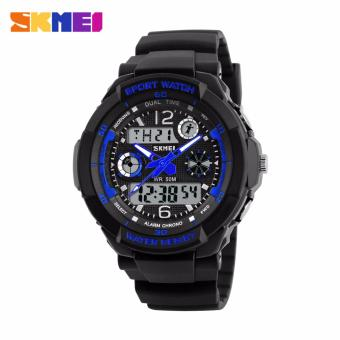 Skmei Silicone Strap Unisex Watch AD1060 (Black/Blue) Price Philippines