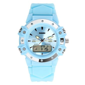 SKMEI Unisex Sport Waterproof Rubber Strap Wrist Watch -Blue 0821 Price Philippines