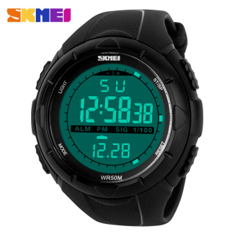 SKMEI Waterproof Fashion New Digital Military Green Band Men Sport Wrist Watch
