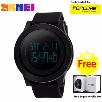 SKMEI WHSK011 Fashion Big LED Dial and Silicone Strap Unisex Waterproof Sport Watch with Free Skmei Gift Box