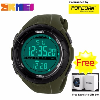 SKMEI WHSK021 Sport LED Dial and Silicone Strap Unisex Waterproof Sport Watch with Free Skmei Gift Box