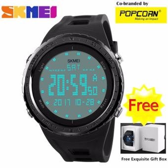 SKMEI WHSKWT025 Casual Big LED Dial and Silicone Strap Unisex Waterproof Sport Watch with Free Skmei Gift Box