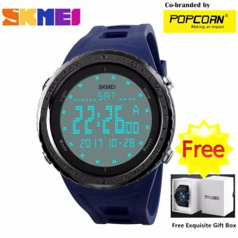 SKMEI WHSKWT025 Casual Big LED Dial and Silicone Strap UnisexWaterproof Sport Watch with Free Skmei Gift Box Price Philippines