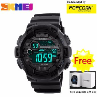 SKMEI WHSKWT032 Sport LED Digital Dial and High Quality PU Strap Unisex Waterproof Watch with Free Skmei Gift Box