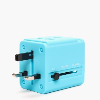 SM Accessories 701083B Travel Adaptor (Blue)