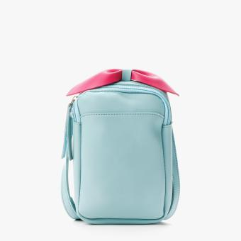SM Accessories Girls Bow Sling Bag (Light Blue)