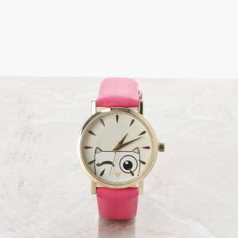 SM Accessories Girls Cat Analog Watch (Pink)