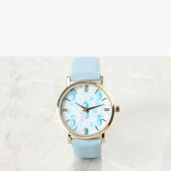 SM Accessories Girls Seahorse Analog Watch (Blue)