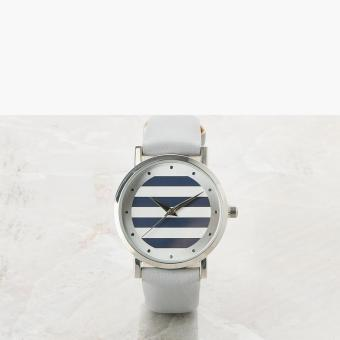 SM Accessories Girls Striped Analog Watch (Gray)