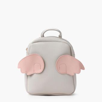 SM Accessories Girls Wings Backpack (Beige)