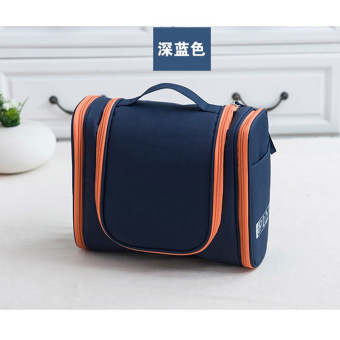 Small portable large capacity multi-functional washed bag makeup bag