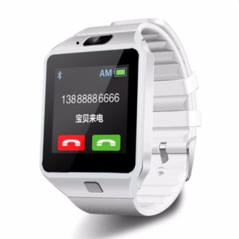 Smart Watch Fashion Bluetooth For Android and IOS With Sim Card Slot(White) DZ09